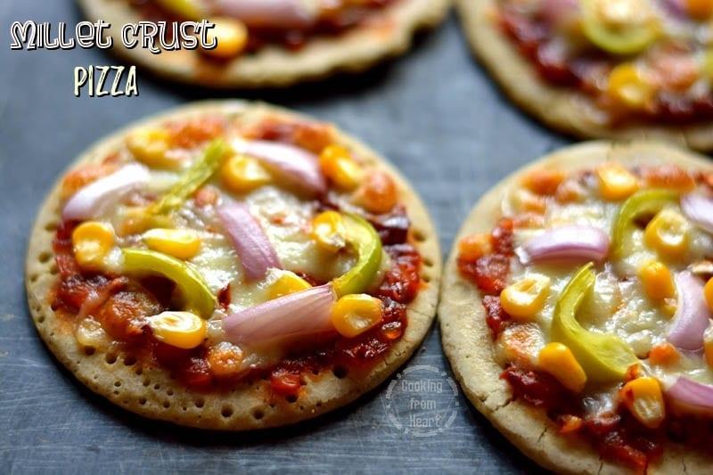 Millet Crust Pizza | Healthy Gluten Free Veggie Pizza