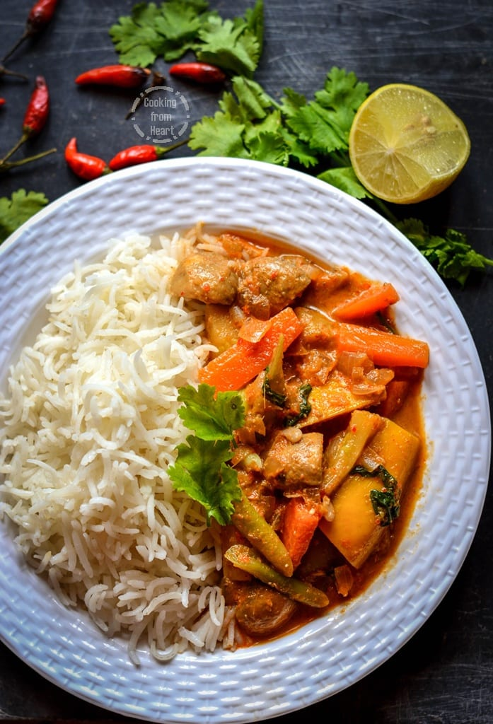 Thai Red Curry with Lemon Grass Rice (2)
