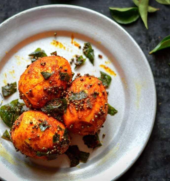 Egg Masala Fry | Muttai Masala Fry