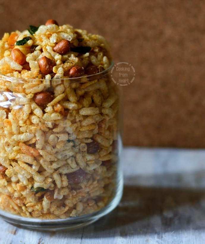 Aval Pori Mixture   Diwali Special Recipe