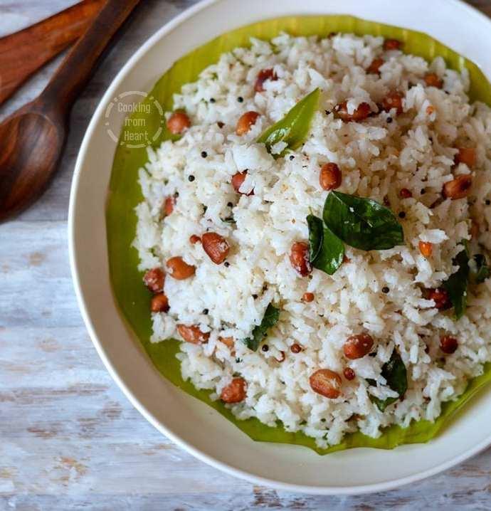 Coconut Rice | Kobbari Annam | Thengai Sadam