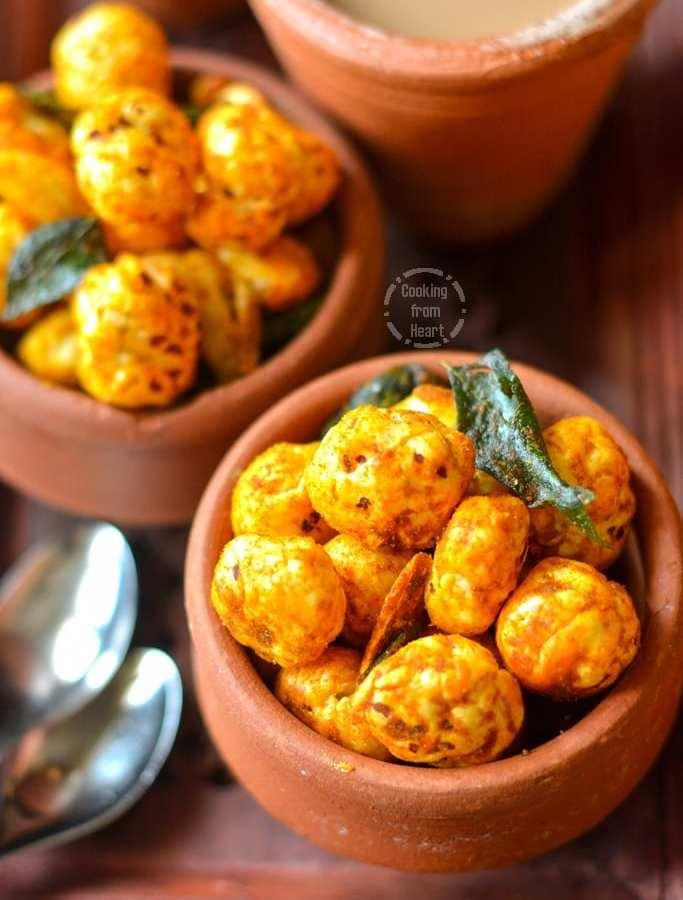 Spicy Garlic Roasted Makhana | Tea Time Snacks