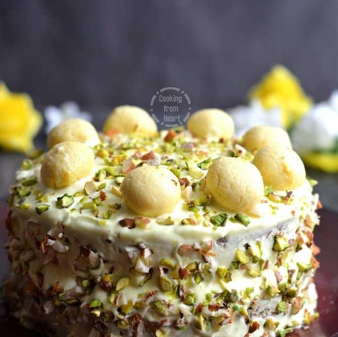 Remarkable Eggless Rasmalai Cake Cooking From Heart Funny Birthday Cards Online Aeocydamsfinfo