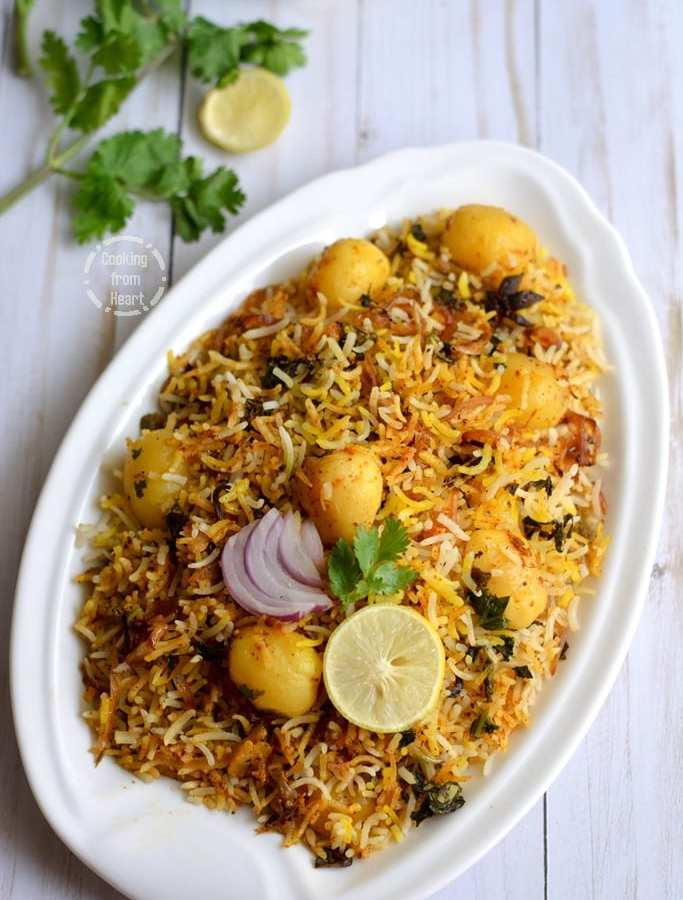Baby Potato Hyderabadi Dum Biryani | Easy Dum Biryani Recipe in Oven