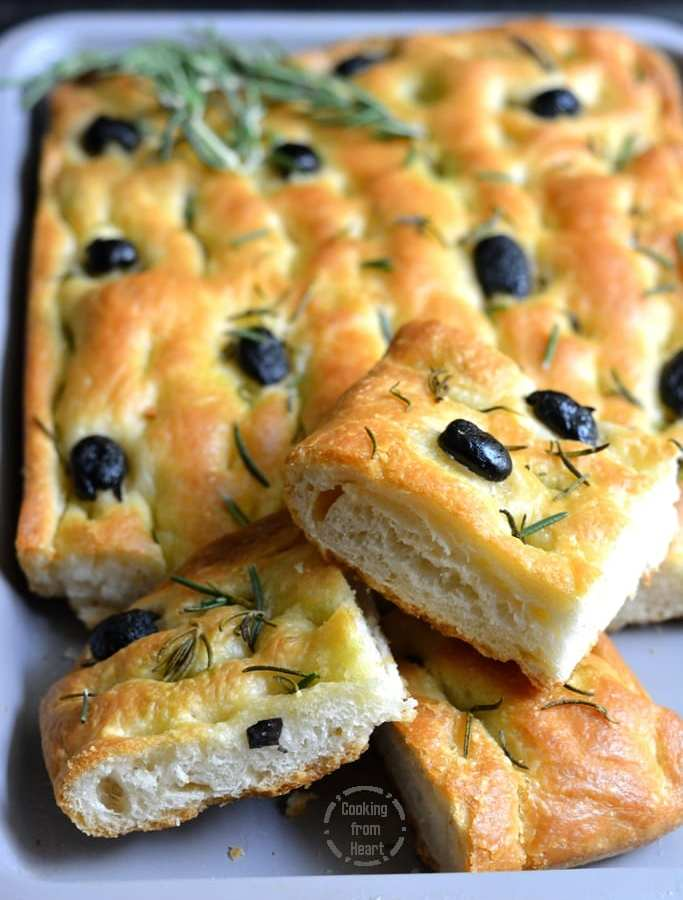 Focaccia with Olives and Rosemary   Olive Rosemary Focaccia