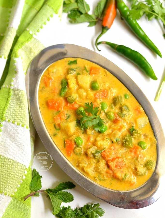 Vegetable Kurma | Hotel Style Vegetable Kurma