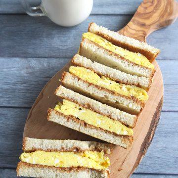 peanut butter omelet sandwich.