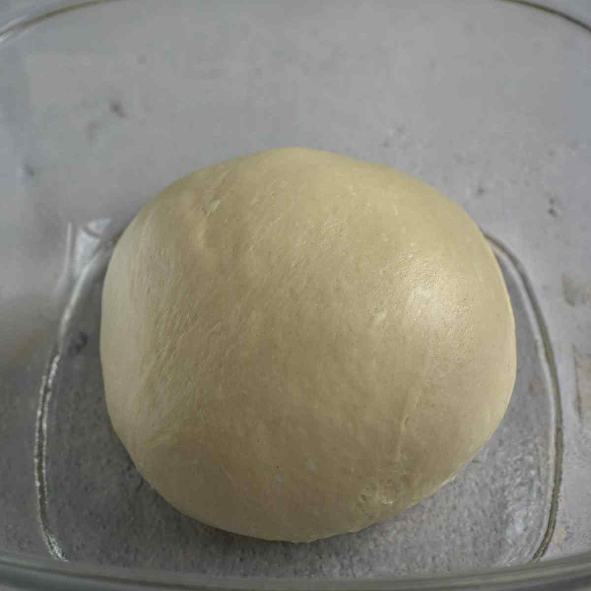 milk bun dough before first proof.