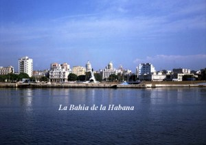View of the Malecon from the Bay of Havana