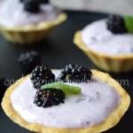 blackberry mini tarts