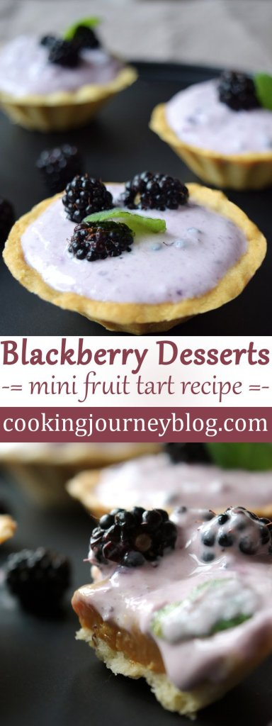 Blackberry desserts – mini fruit tart recipe