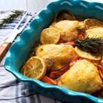 Rosemary chicken – Baked chicken thighs - Dinner ideas