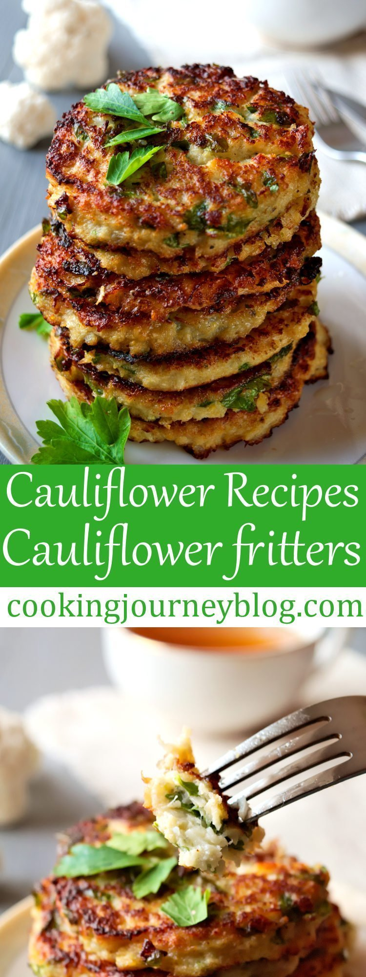 Cauliflower fritters – best cauliflower recipe for healthy breakfast. You need no milk, no sugar to make this easy pancake recipe tasty! This is one of breakfast ideas for kids, that you should try. Learn how to make these cauliflower pancakes from scratch!