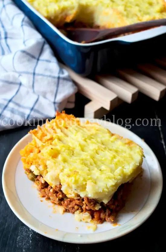 Shepherd's pie on a plate