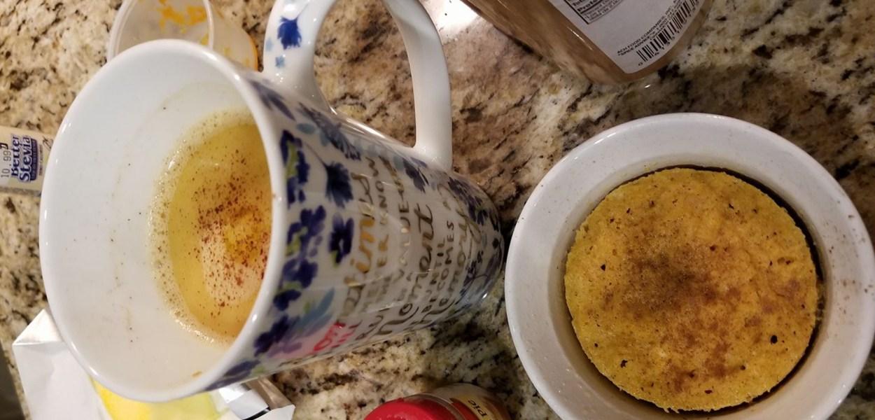 pumpkin spice 1 minute muffins