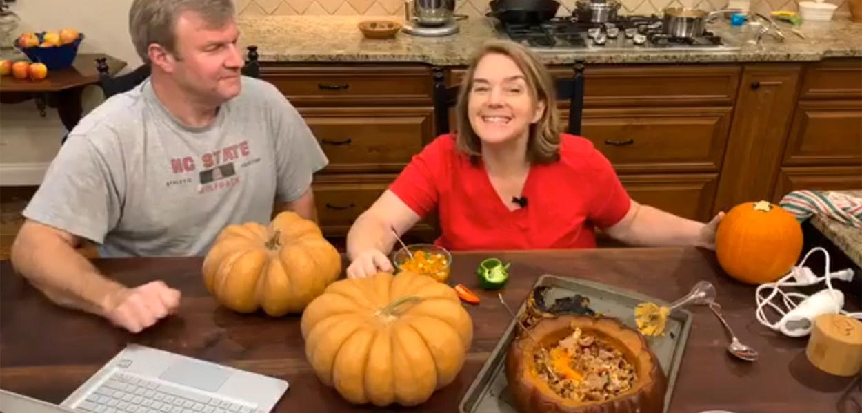 smoked pumpkins
