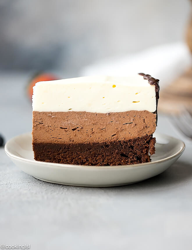 Three Layer Chocolate Mousse Cake Recipe