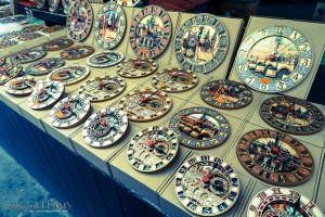 3 Days in Prague - Wooden clocks at the market