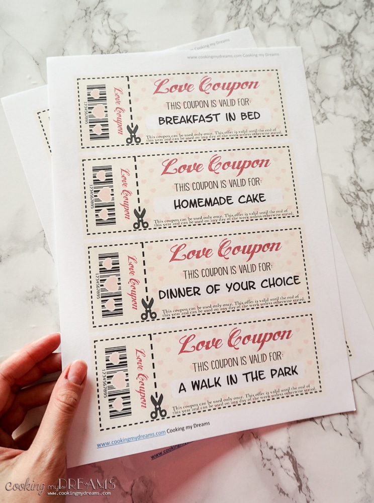 Printable and Customizable Love Coupons - Valentine's Day Gift idea for your loved one!