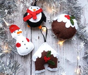 DIY Christmas Felt Ornaments