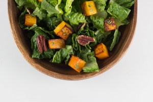 roasted butternut squash salad with thyme vinaigrette