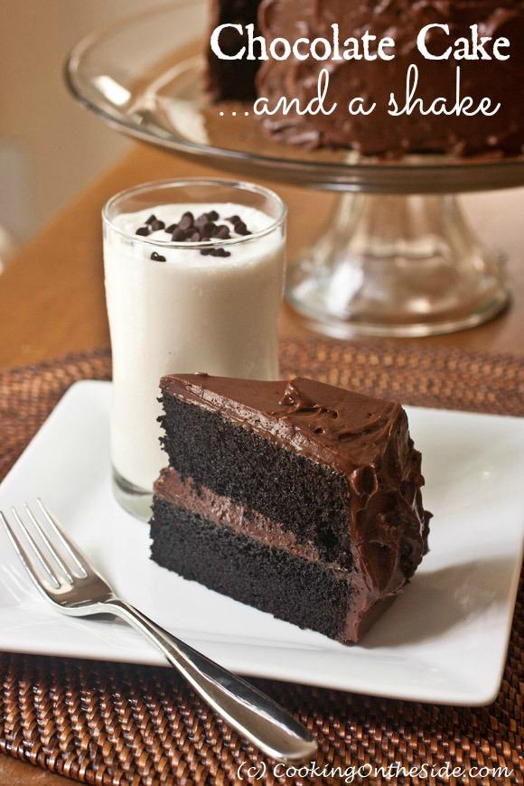 Recipe Dark Chocolate Cake With A Vanilla Milkshake