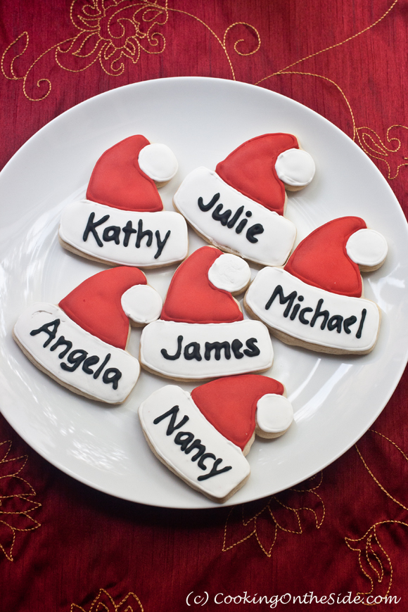 IDEA Christmas Cookie Place Cards Cooking On The Side