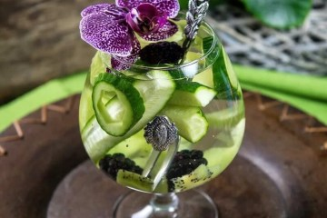 Blackberry cucumber water on Cooking Romania by Vivi