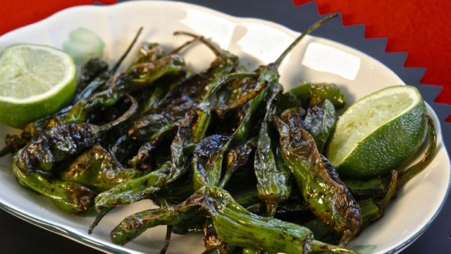 shishito peppers blistered