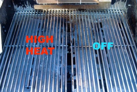 Two zones for a grill