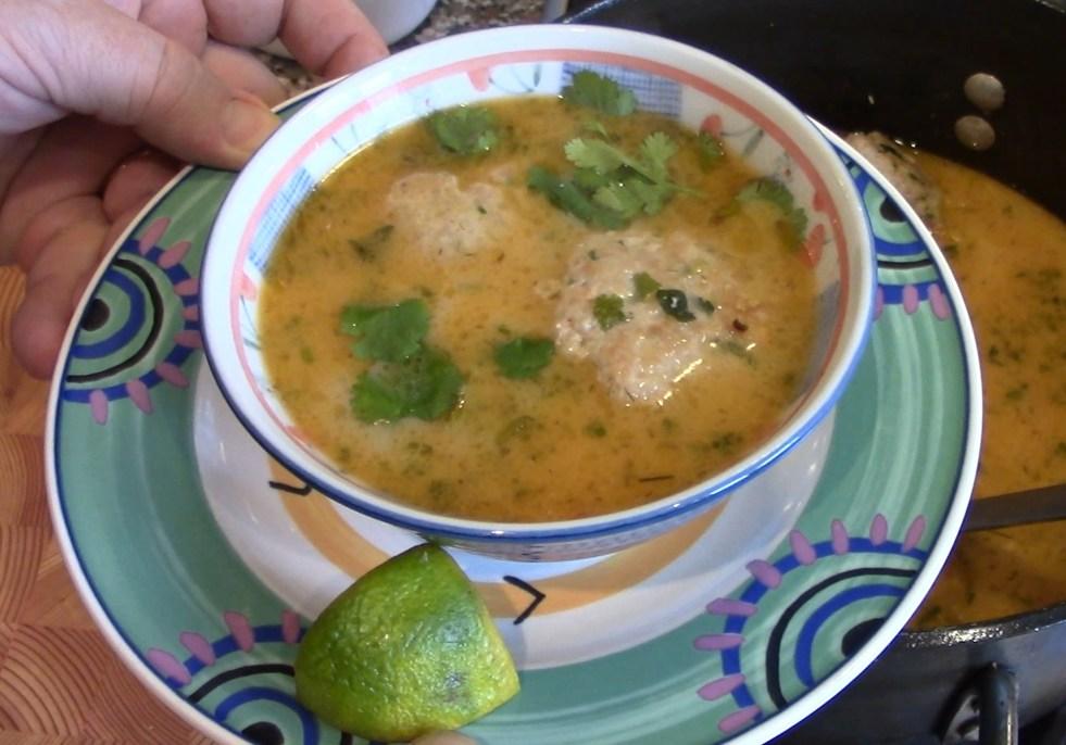 Thai Meatball Soup