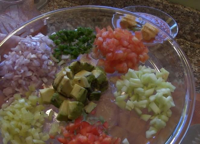 Diced Vegetables for garnish