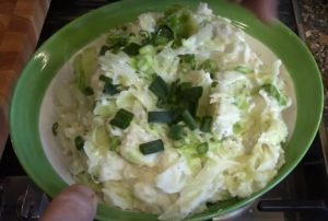 Cabbage in Colcannon