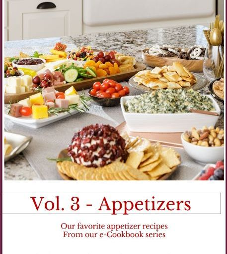 """e-Cookbook Vol 3 – """"Appetizers"""" now available"""