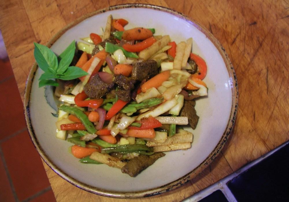 Asian Liver Vegetable Stir-Fry (1/3)