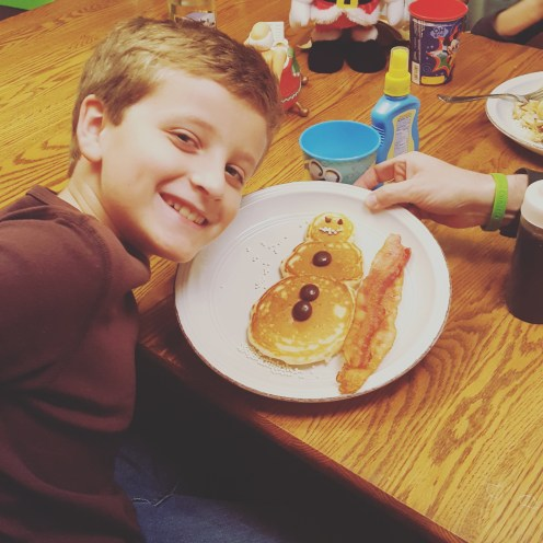 Snowman Pancakes from Ma