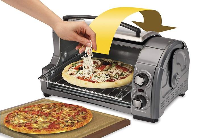 Hamilton Beach 31344D Easy Reach With Roll-Top Door Toaster Oven 4-Slice