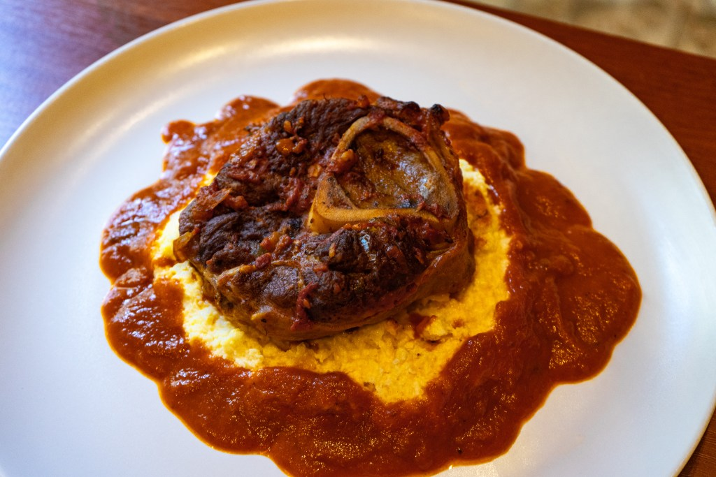 Osso Buco with Polenta and Braising Sauce