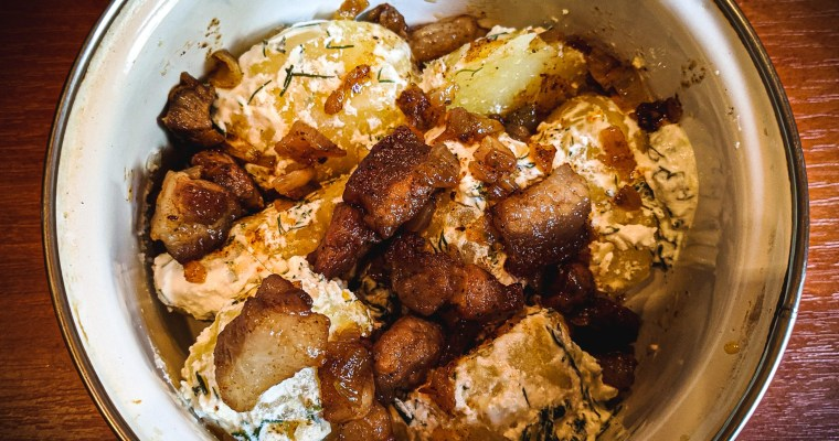 Dill Potatoes with Pork Belly