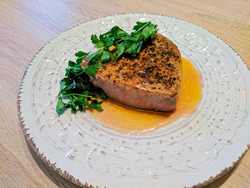 Seared Ahi with Orange Honey Glaze