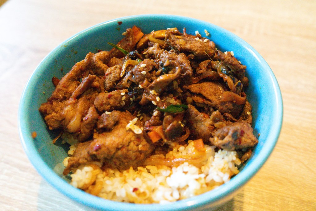 bulgogi deopbap rice bowl