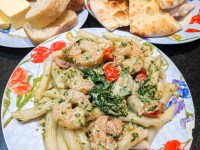 Shrimp Spinach Penne Pasta