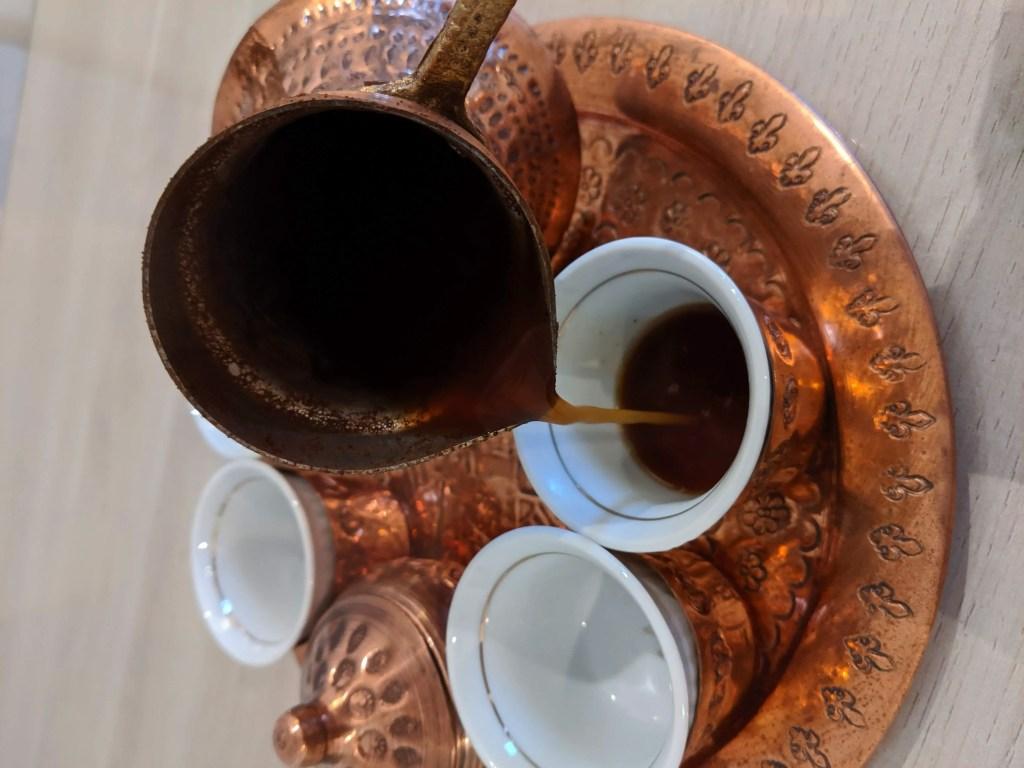 pouring Bosnian Coffee