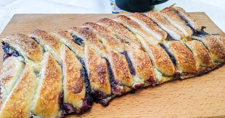 Chokeberry Danish Pastry Braid