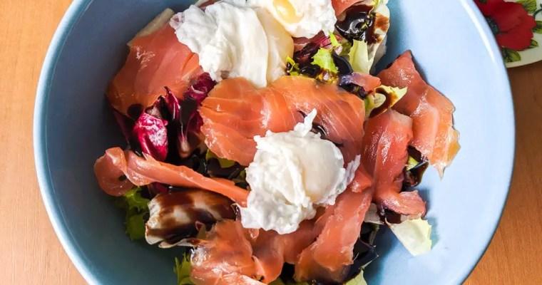 Poached Quail Egg And Smoked Salmon Salad