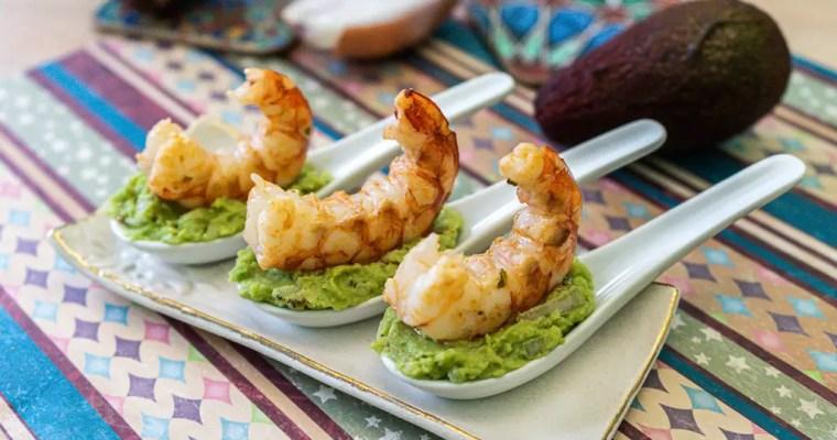 Shrimp Guacamole Spoons