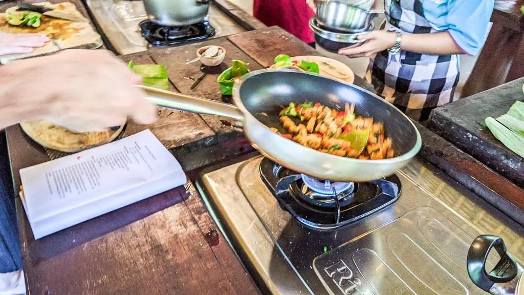 Bali Farm Cooking Class Making Sweet Sour Tempeh