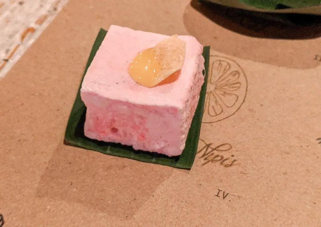 Hot Bobi. A rosella flavored marshmallow