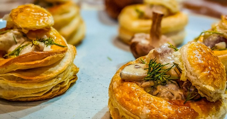 Vol-Au-Vent With Whitefish Poached In Shiitake Cream Sauce