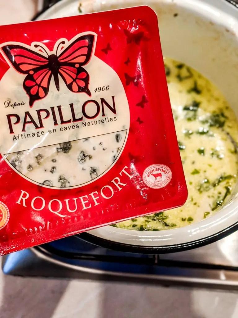 papillon roquefort blue cheese